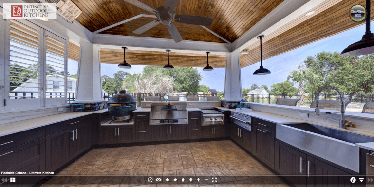 Cabana Outdoor Kitchen by Distinctive Outdoor Kitchens in Raleigh, NC